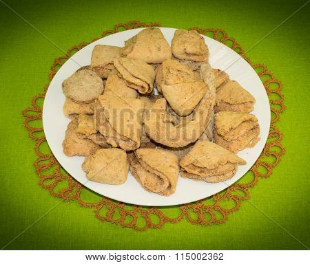 Cottage cheese cookies with cinnamon