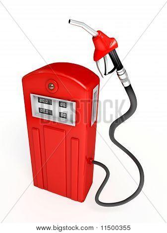 Red Gasoline Pump