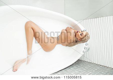 Sexy Woman In Bathtub
