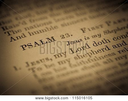 PSALM 23 from Old Hymnal