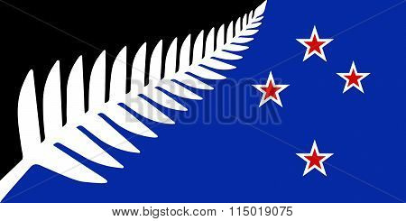 Silver Fern National Flag Of New Zealand