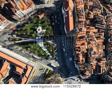 Top View of Clerigos Tower, Porto, Portugal