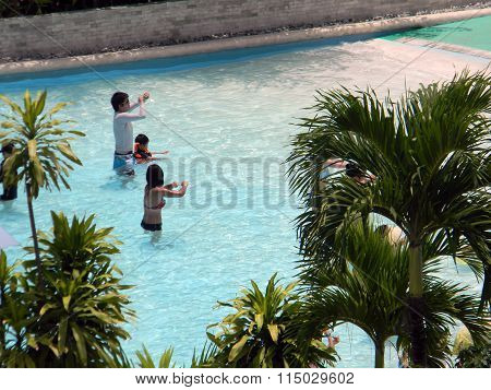 Swimming Pool at the Imperial Palace in the Philippines