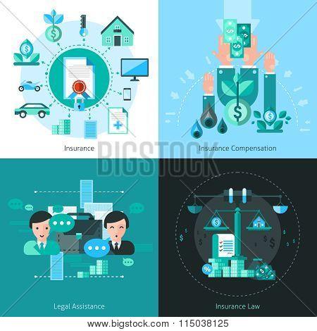 Business Insurance Concept Icons Set