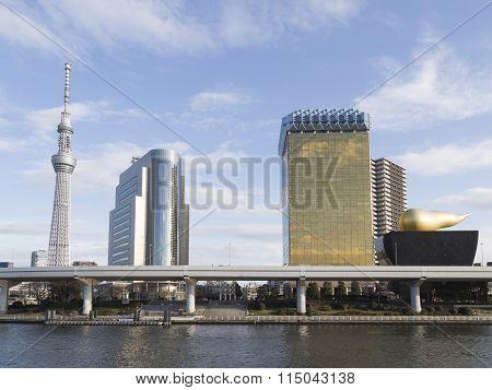 Urban Cityscape In Tokyo, Japan