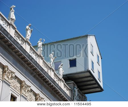 House on top of a monumentel building