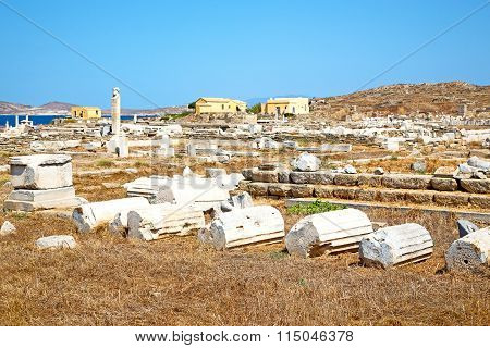 Famous   In Delos Greece   Historycal   And   Site