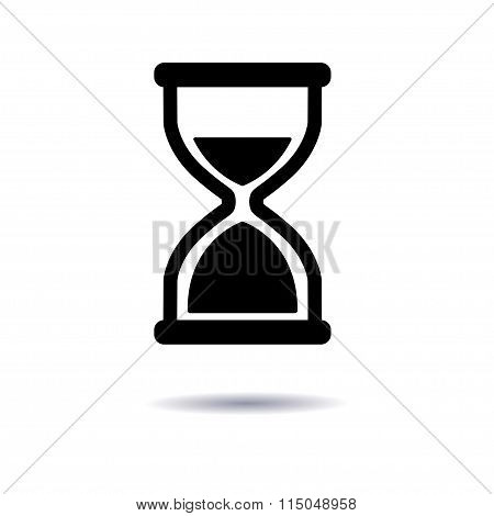 Vector Illustration, Icon Hourglass Flat Design, A Symbol Of Time.