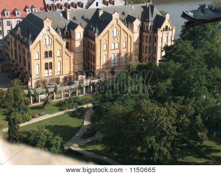 Panoramic View On Stylish Tenement Houses