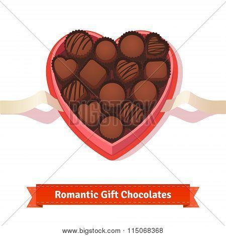 Valentine's day, birthday dark chocolates in box