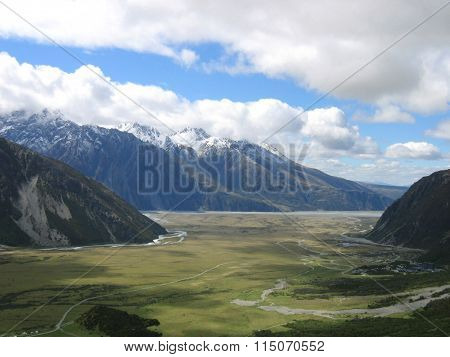 Mount Cook National Park in New Zealand