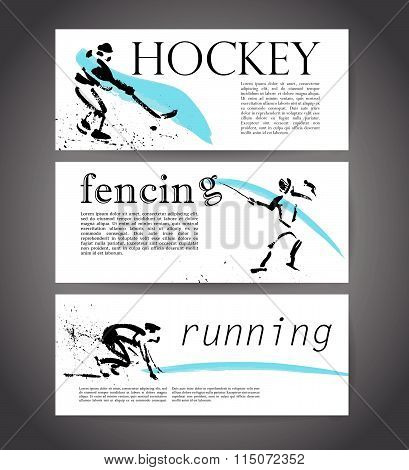 Vector sport advertising template