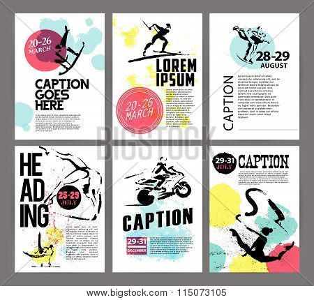 Vector sport advertising template