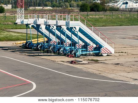 Old Gangway For Airplanes