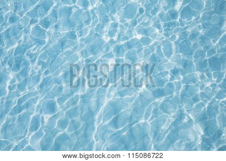 Blue Sea Surface With Waves Reflection Aqua