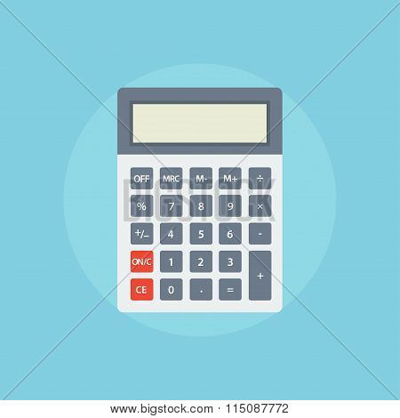 Calculator Flat Illustration