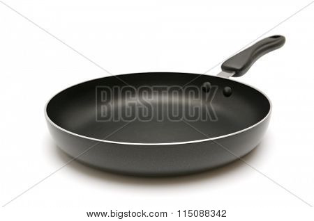 Large frying pan isolated on white