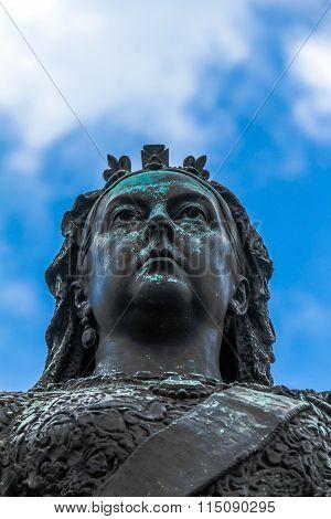 Statue Of Queen Victoria.  Windsor, Uk