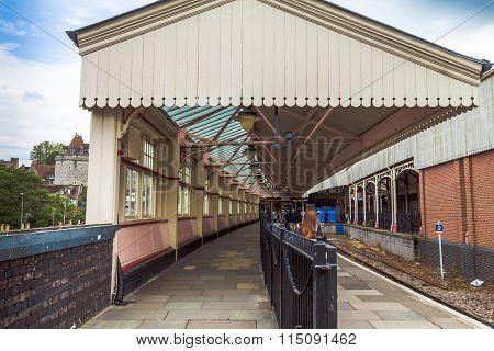 Windsor Train Station. Uk