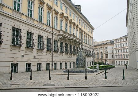 Vienna, Austria - April 23, 2010: Chancellor's Office Of Austria - Bundeskanzleramt