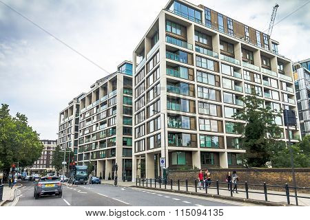 Modern Apartment Houses In The Area  Hammersmith, London