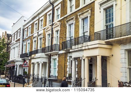 Old Hotel Houses In The Area  Kensington Olympia, London