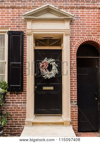 Colonial Red Doorway