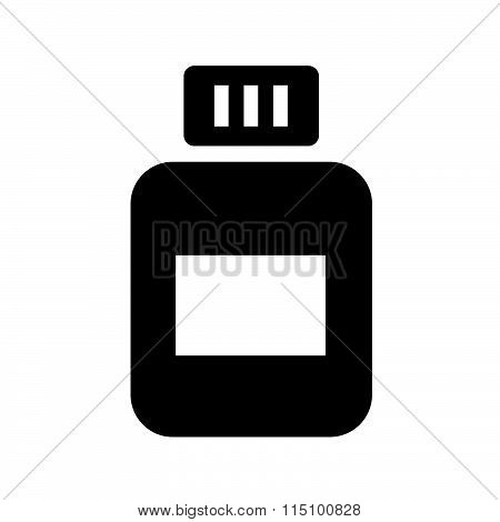 medicine bottles vector design black color support eps10.
