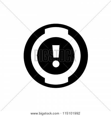 car dashboard icon vector design black color support eps10.