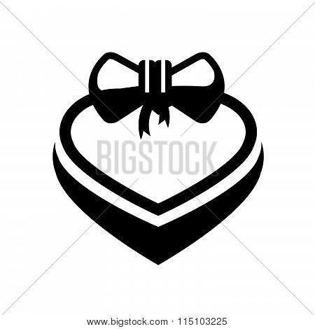 valentine gift icon vector design black color support eps10.