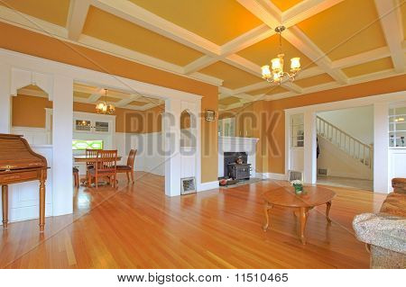 Amazing Old Home With Wight Molding.