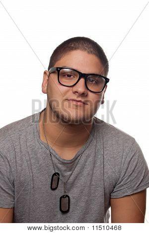 Junger Mann In Nerd-Brille