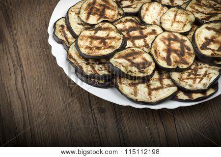 Aubergines eggplants