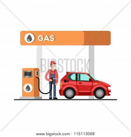 Gas Station Energy Fuel Petrol Station
