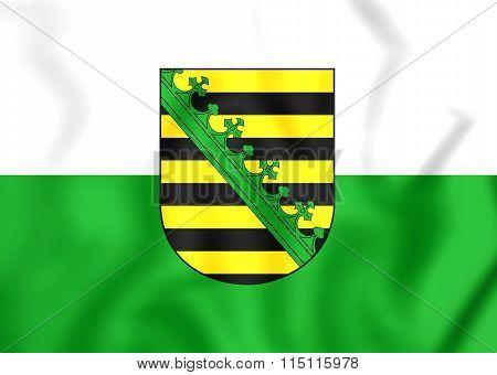 Flag Of Saxony, Germany.