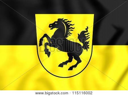 Flag Of Stuttgart City, Germany.