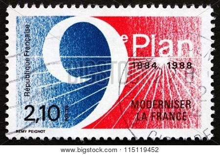 Postage Stamp France 1984 5- Year Plan