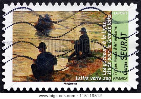 Postage Stamp France 2013 Fishermen, By Georges Seurat