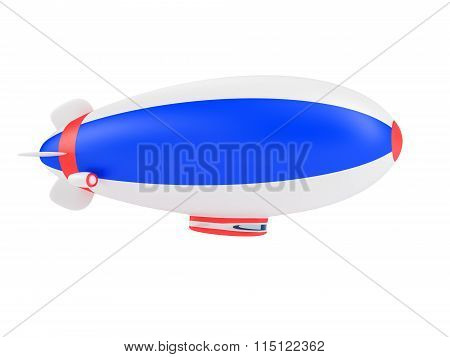 Blimp isolated on white