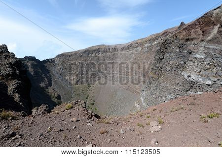 Inside The Mount Vesuvius Volcano Crater