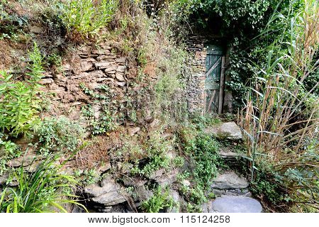 Abandoned Doorway In Nature