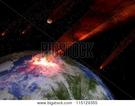 Asteroids Striking Earth