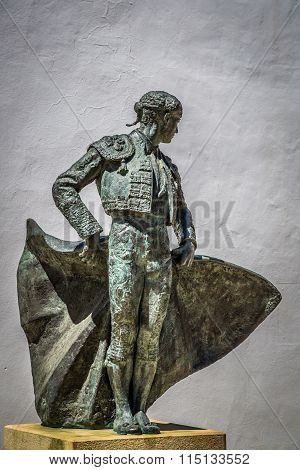 Ronda, Andalucia/spain - May 3 : Statue Of Cayetano Ordonez