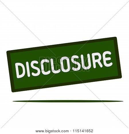 Disclosure Wording On Rectangular Signs