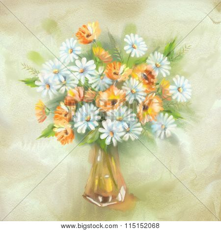 Flowers Bouquet in Vase