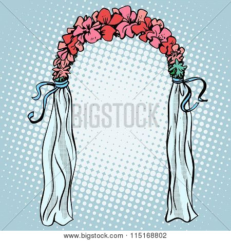 Wedding gate for the betrothal