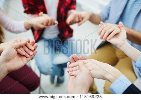 Group pray