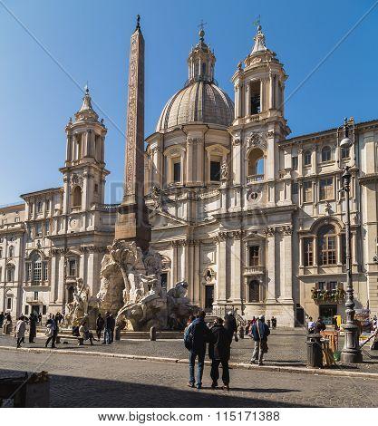 Sant'agnese In Agone Church In Rome