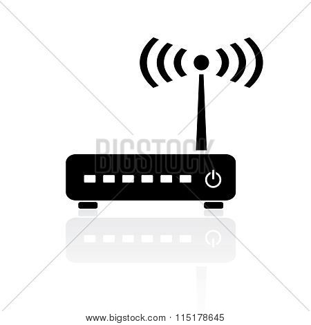 Router modem icon