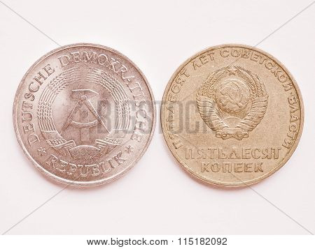 Vintage Russian Ruble Coin And G Vintage